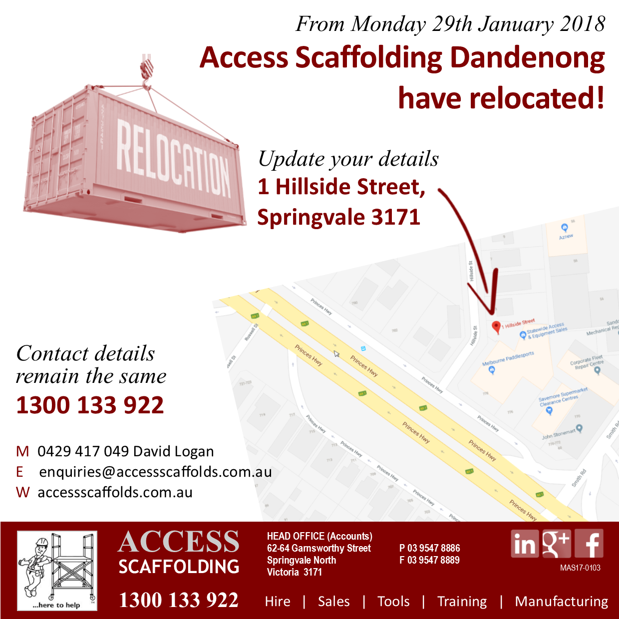 Dandenong Relocation